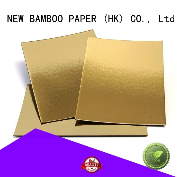 NEW BAMBOO PAPER excellent cake boards gold free design for bread packaging