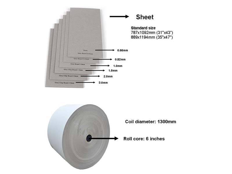 NEW BAMBOO PAPER gray grey board thickness for arch files-13
