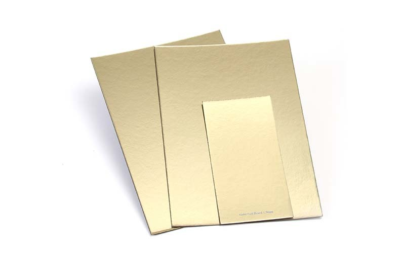silver foil board recycled for cake board NEW BAMBOO PAPER