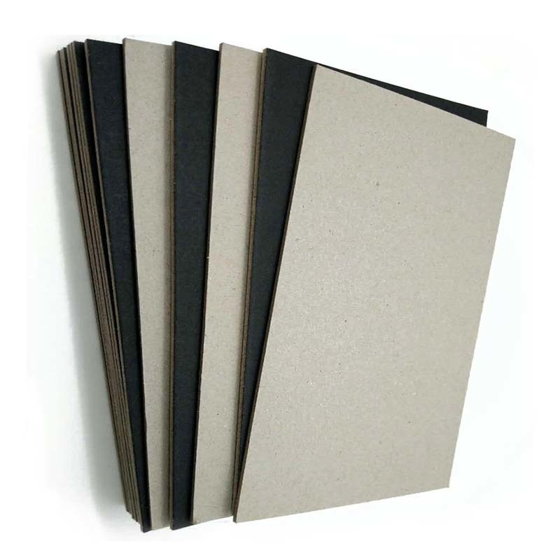 Solid Grade A C1S 1.9mm Black Paper Laminated Paperboard Grey Back
