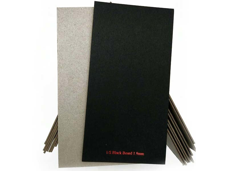 useful black backing board uncoated long-term-use for hang tag