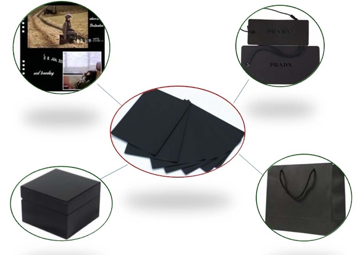 commercial Solid black board packaging for wholesale for silk printing-10