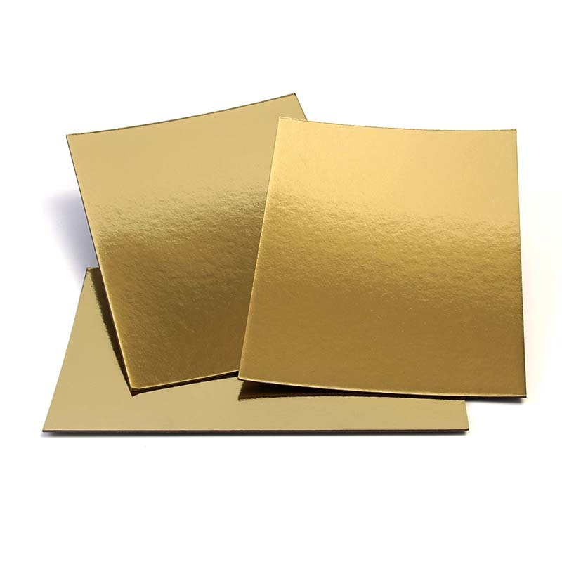Environment Grade A metallic board paper Gold Paper Grey Back For Cake Bakery
