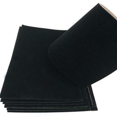Grey back board black flock paper cardboard sheets
