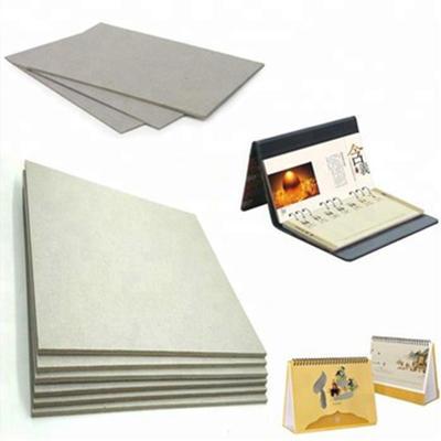 Unbleached Grade A Grey Paperboard for making Desk calendar
