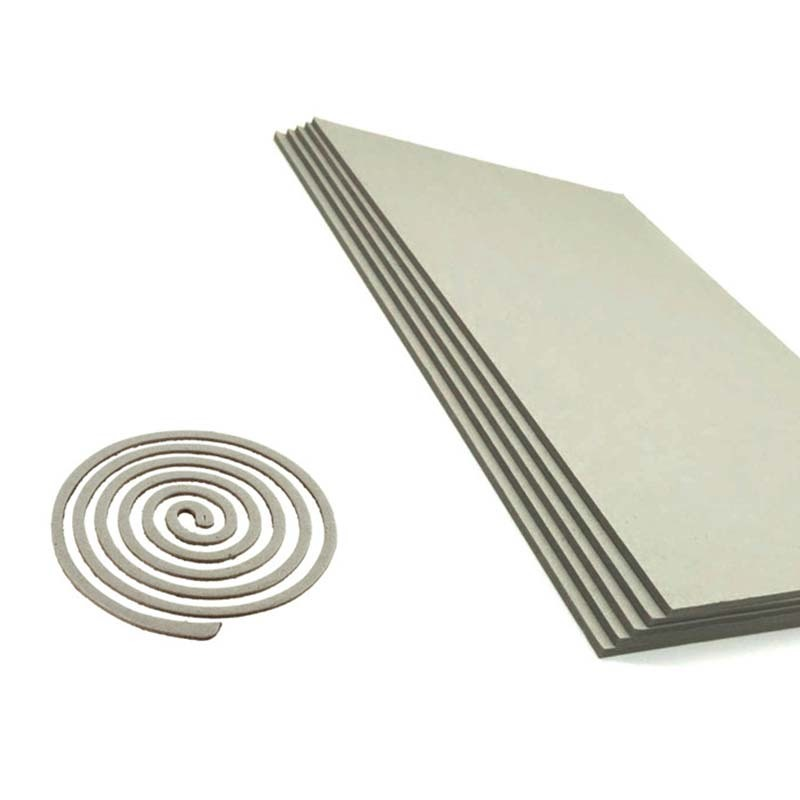 Solid 1500gsm Single Layer Gray Paper Board Raw Material for Mosquito Coil