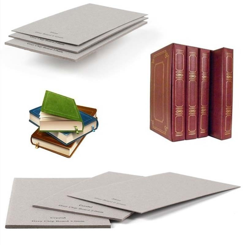 Anti - Curl Grey book binding Board paper Chipboard for Book Cover Material