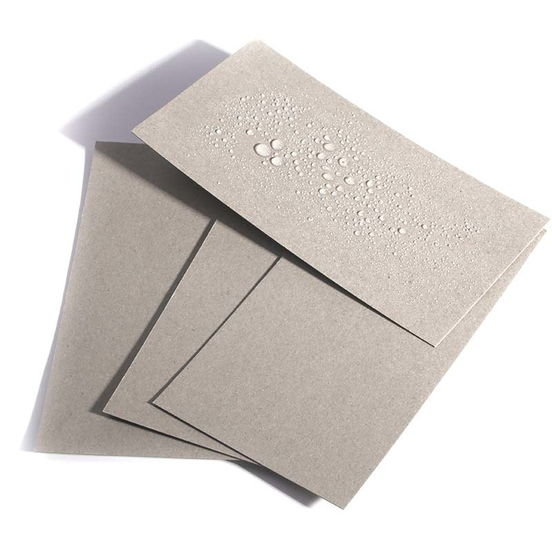 Moisture Proof 320gsm 400gsm Grey Board Sheets with One Side PE Coated