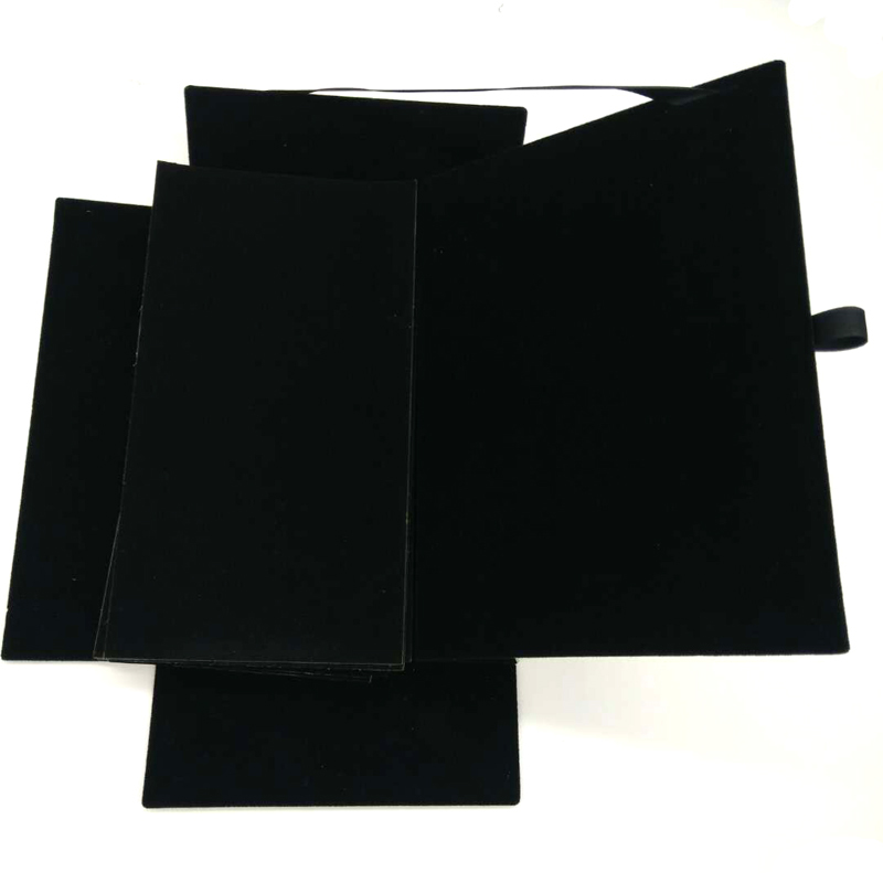 Grey back board black flock paper cardboard sheets