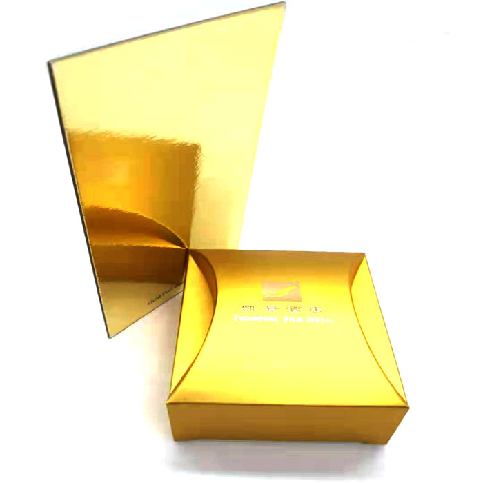 Thick shiny gold foil cardboard paper metallic foil board