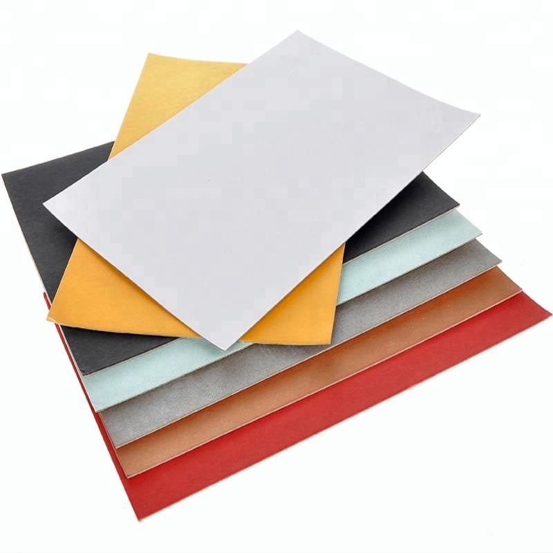 Colored pressed cardboard sheets hard board color paperboard