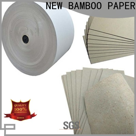 NEW BAMBOO PAPER inexpensive 2mm grey board from manufacturer for packaging
