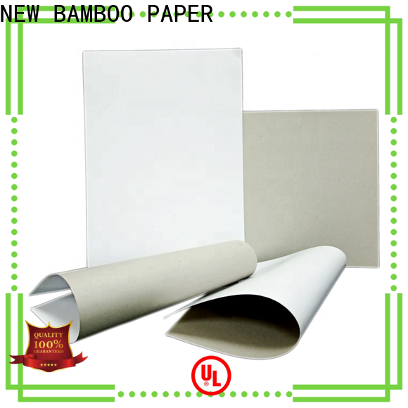 NEW BAMBOO PAPER side duplex cardboard from manufacturer for soap boxes