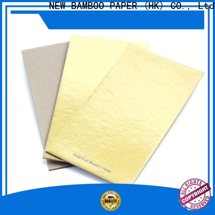 NEW BAMBOO PAPER paperboard gold foil board order now for dessert packaging
