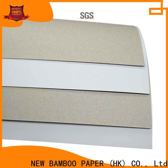 NEW BAMBOO PAPER boxes white duplex board bulk production for shoe boxes
