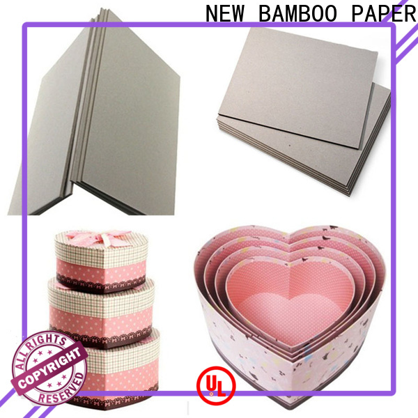 NEW BAMBOO PAPER quality grey paper board free design for boxes
