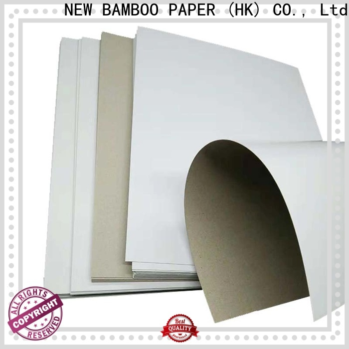 NEW BAMBOO PAPER inexpensive white duplex board from manufacturer for crafts