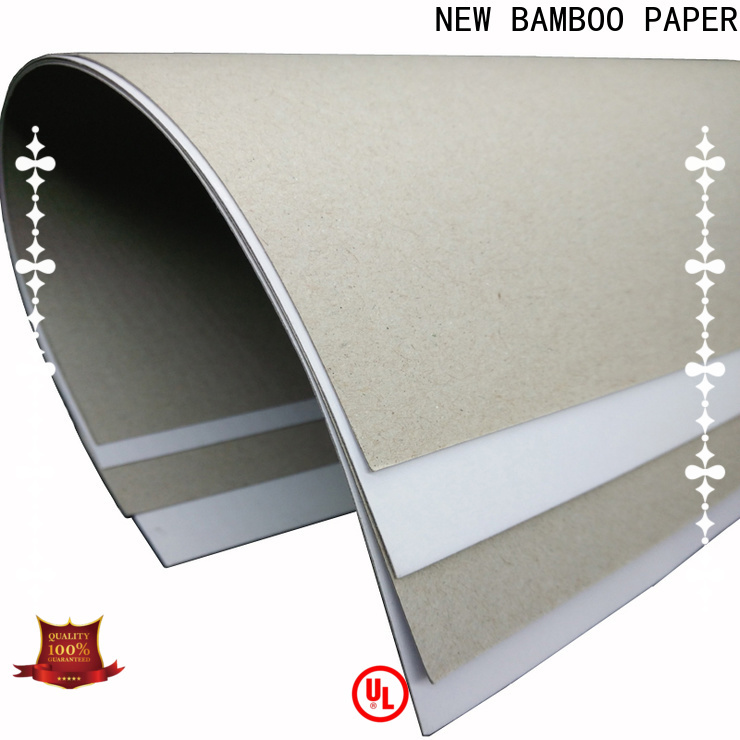 NEW BAMBOO PAPER new-arrival white back duplex board for toothpaste boxes