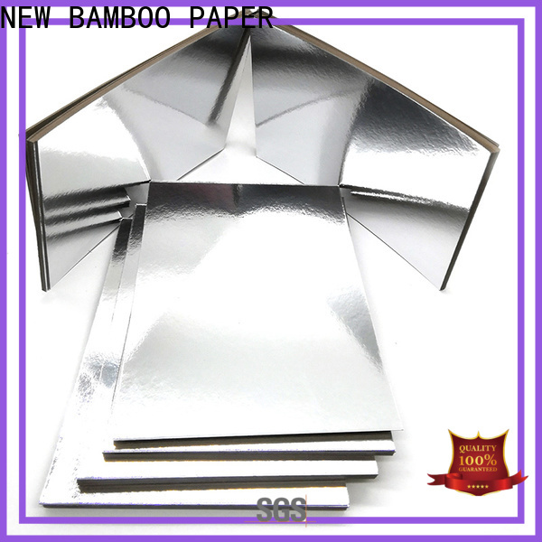 NEW BAMBOO PAPER inexpensive gold cake boards bulk production for bread packaging