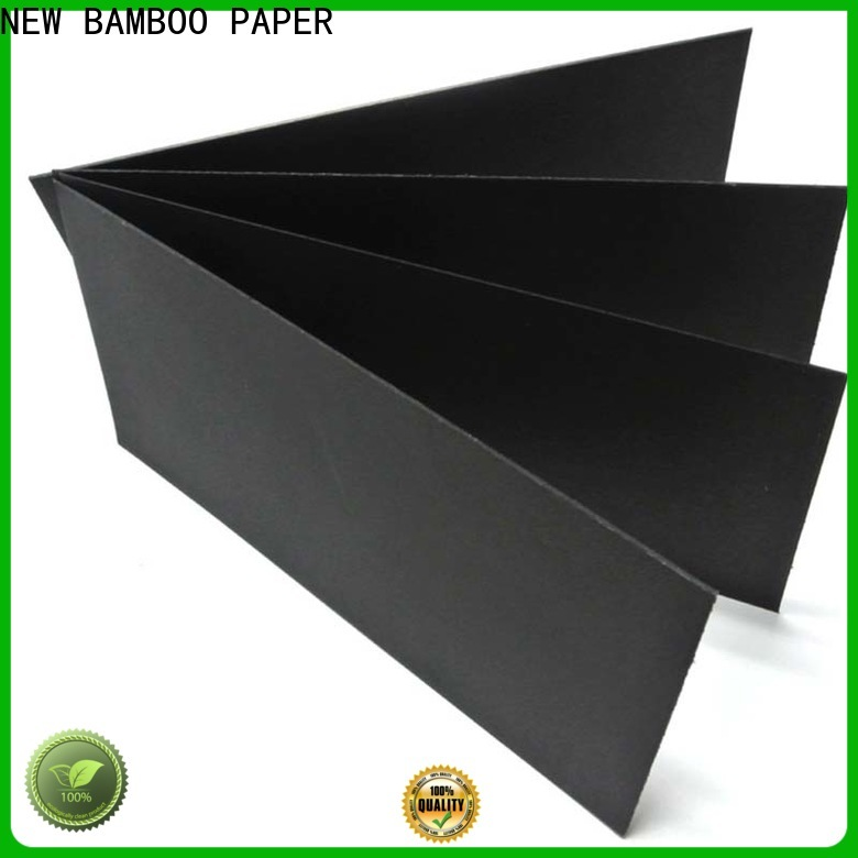 NEW BAMBOO PAPER commercial thick black paper supplier for silk printing