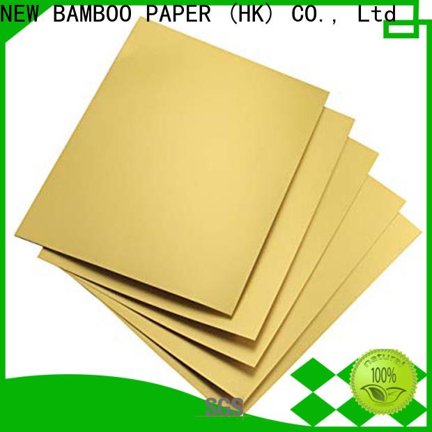NEW BAMBOO PAPER stiff metallic foil board