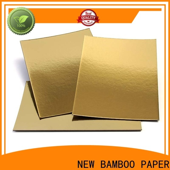 NEW BAMBOO PAPER recycled metallic gold poster board long-term-use for dessert packaging