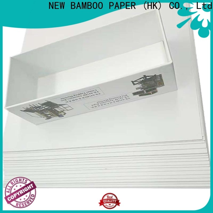 NEW BAMBOO PAPER inexpensive grey back duplex board free quote for cloth boxes