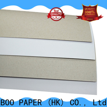 NEW BAMBOO PAPER nice duplex board gray back free quote for gift box binding