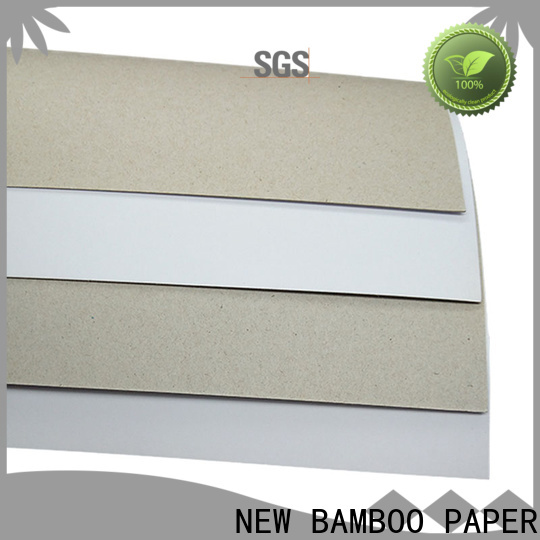 NEW BAMBOO PAPER sheets duplex paperboard free design for printing industry