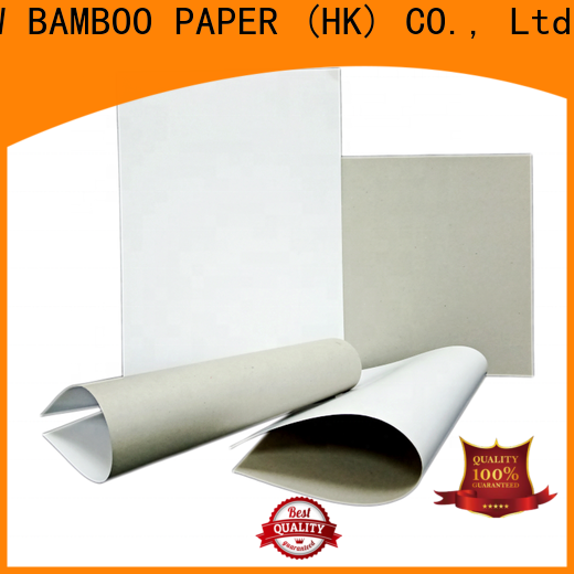 NEW BAMBOO PAPER new-arrival duplex board price bulk production for cereal boxes
