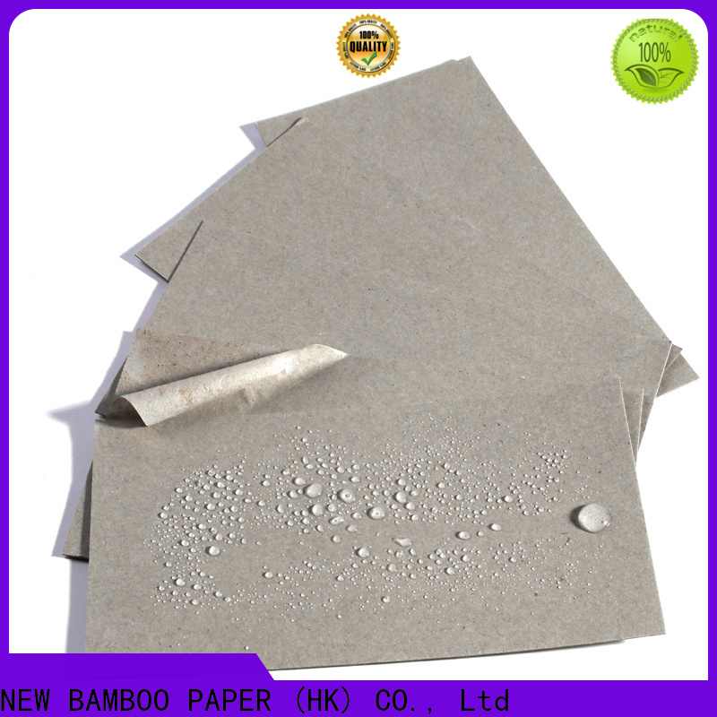 NEW BAMBOO PAPER high-quality poly coated cardboard certifications for sheds packaging