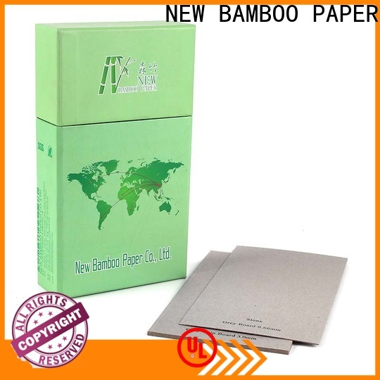 NEW BAMBOO PAPER laminated gray chipboard buy now for packaging