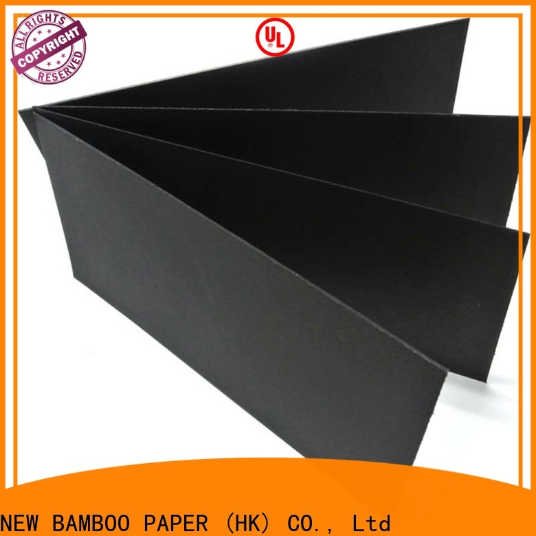NEW BAMBOO PAPER hot-sale black paper board supplier for photo frames