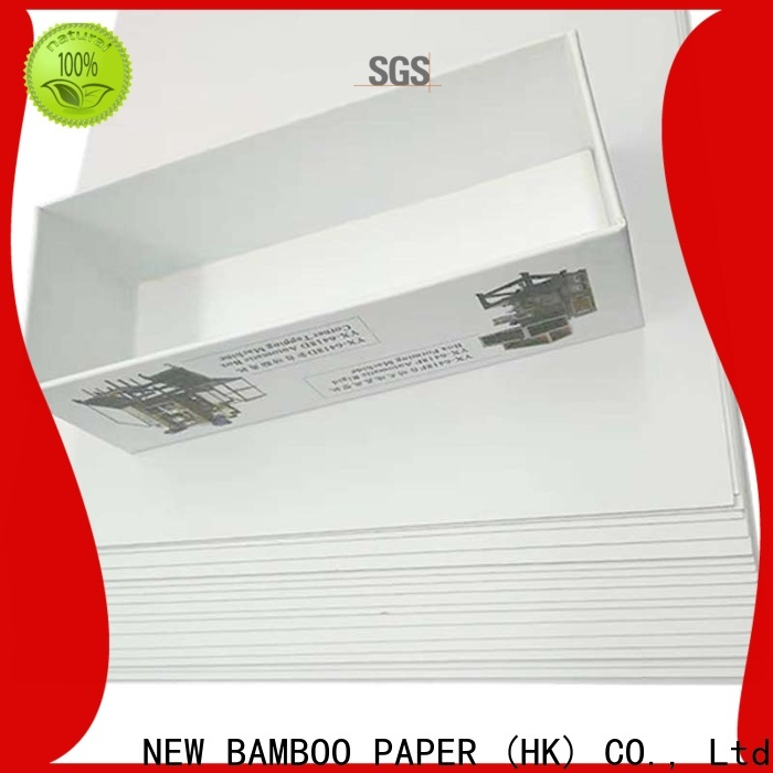 NEW BAMBOO PAPER white duplex board bulk production for cereal boxes