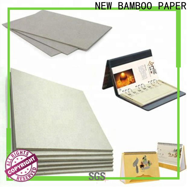 NEW BAMBOO PAPER calendar gray paperboard for wholesale for folder covers