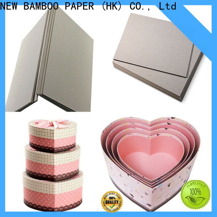 NEW BAMBOO PAPER chipboard cardboard paper sheets bulk production for book covers