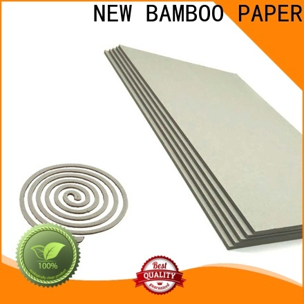 NEW BAMBOO PAPER solid grey board thickness from manufacturer for desk calendars