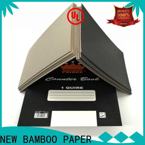 NEW BAMBOO PAPER standard black chipboard for gift box