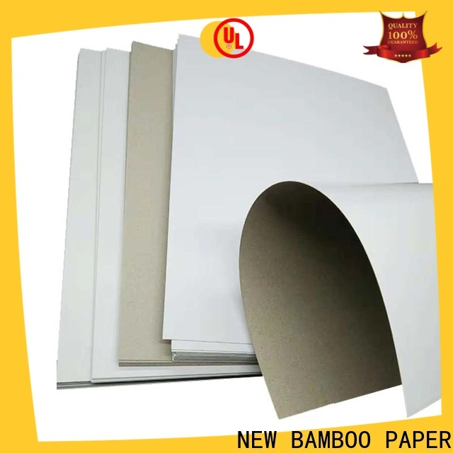 NEW BAMBOO PAPER fantastic duplex board grey back free design for cloth boxes