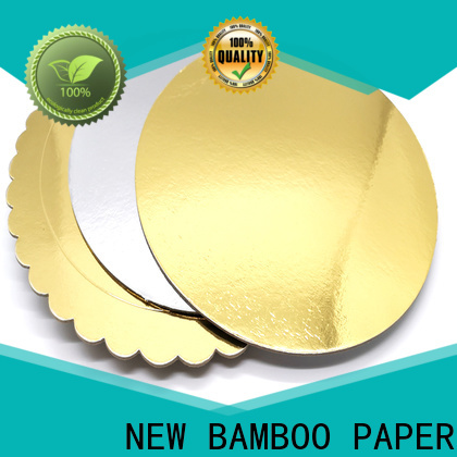 NEW BAMBOO PAPER inexpensive Cake Board supplier factory price for dessert packaging