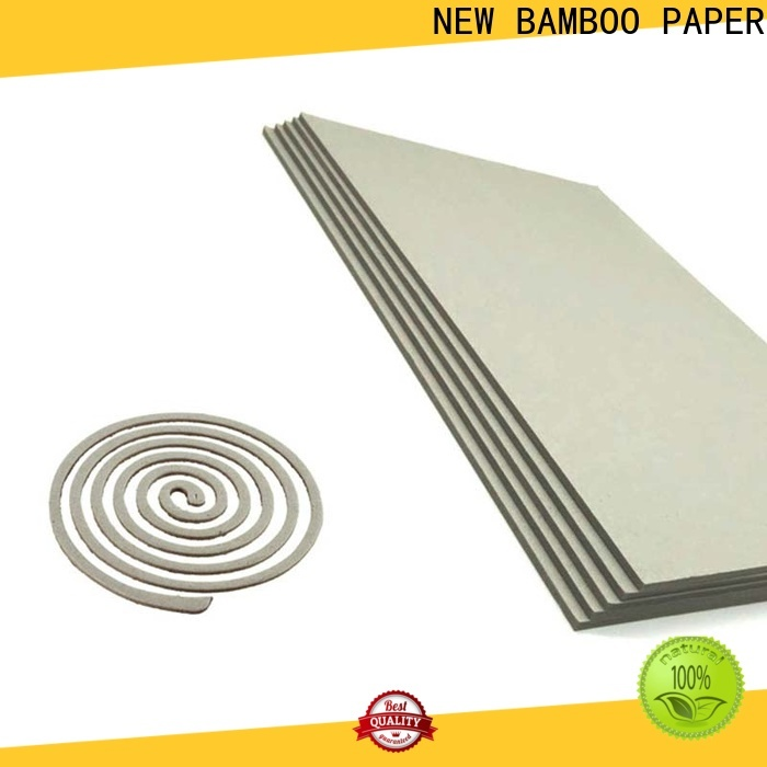 NEW BAMBOO PAPER cover grey chipboard sheets bulk production for photo frames