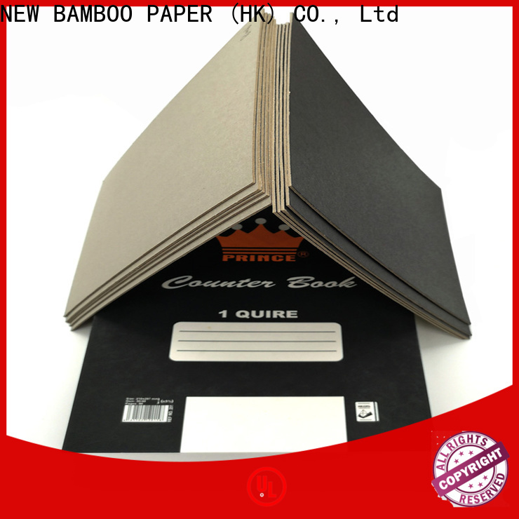 NEW BAMBOO PAPER industry-leading black backing paper bulk production for hang tag