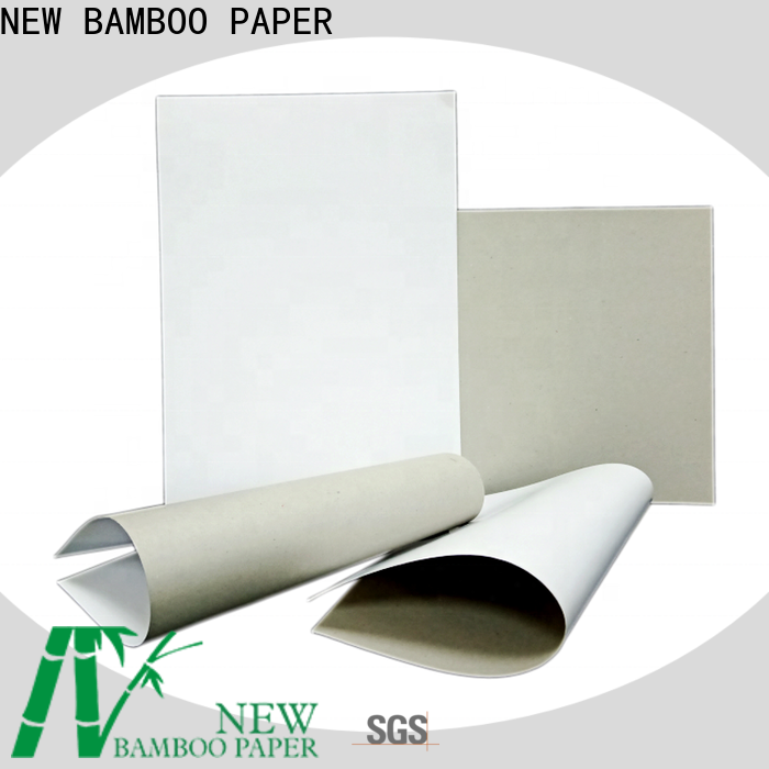 NEW BAMBOO PAPER good-package Grey board with white back order now for box packaging