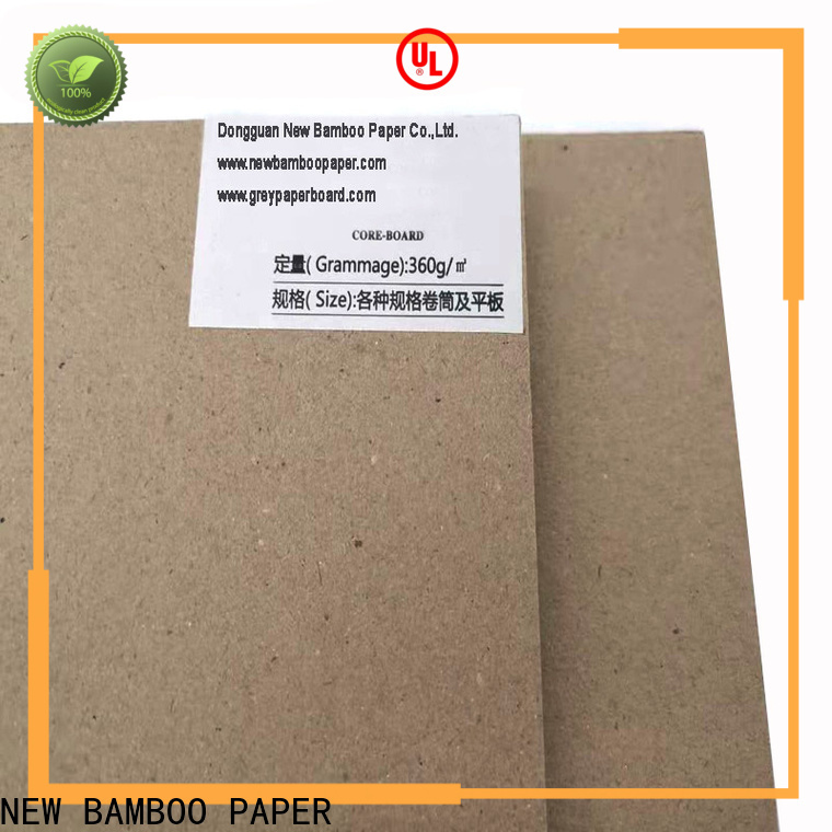 good-package laminated grey board uncoated factory price for stationery