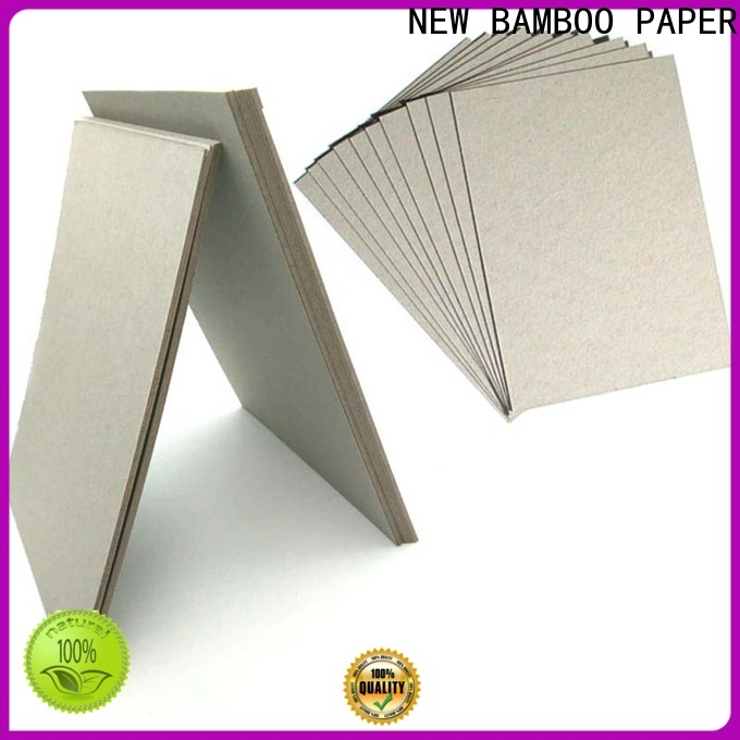 NEW BAMBOO PAPER unbleached grey board for sale factory price for hardcover books