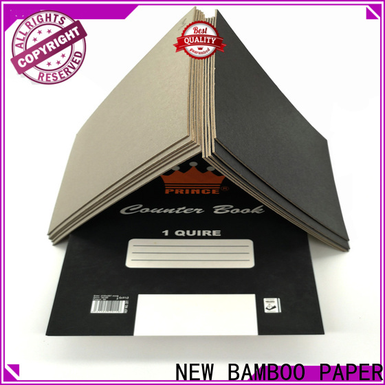 NEW BAMBOO PAPER fantastic black backing paper certifications for hang tag