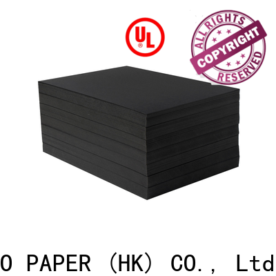 NEW BAMBOO PAPER uncoated black backing paper free design for gift box