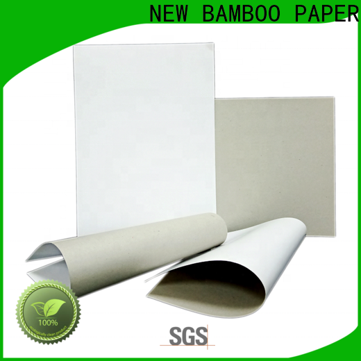NEW BAMBOO PAPER packaging duplex board uses free design for box packaging