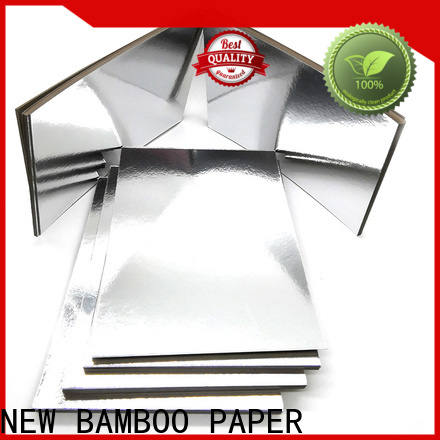 NEW BAMBOO PAPER nice metallic foil board free design for gift boxes
