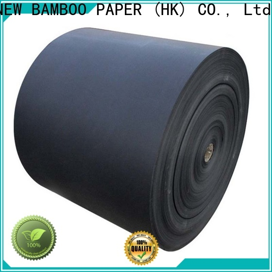 NEW BAMBOO PAPER nice black cardboard paper certifications for hang tag